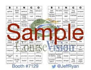 GIS Bingo 15 Sample